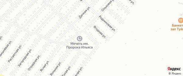 Тополиный переулок на карте Туймаз с номерами домов