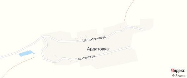 Центральная улица на карте деревни Ардатовки с номерами домов