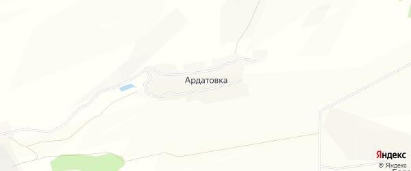 Карта деревни Ардатовки в Башкортостане с улицами и номерами домов
