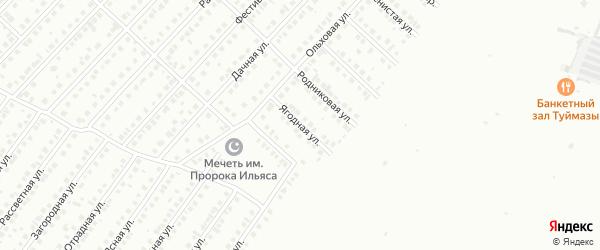 Ягодная улица на карте Туймаз с номерами домов