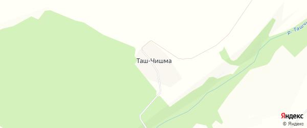 Карта деревни Таша-Чишма в Башкортостане с улицами и номерами домов