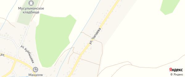 Улица Чапаева на карте села Ермекеево с номерами домов