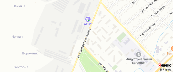 Улица С.Юлаева на карте Туймаз с номерами домов