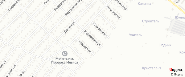 Родниковая улица на карте Туймаз с номерами домов