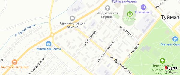 Улица Аксакова на карте Туймаз с номерами домов