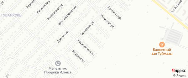 Кленовая улица на карте Туймаз с номерами домов