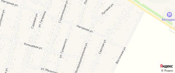 Интернациональная улица на карте села Ермекеево с номерами домов