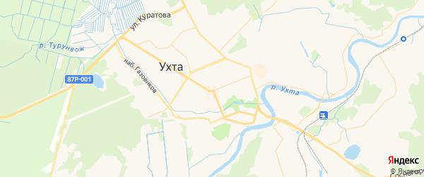 Карта Ухты с районами, улицами и номерами домов