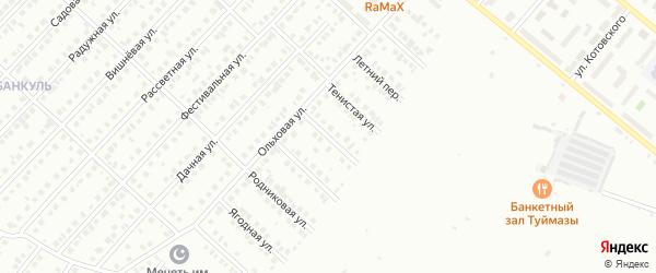 Архитектурная улица на карте Туймаз с номерами домов