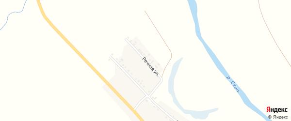Речная улица на карте деревни Сакатово с номерами домов