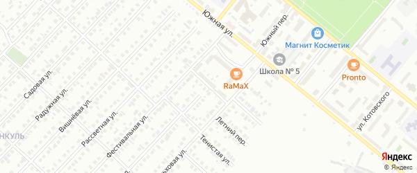 Улица 450-летия Единства на карте Туймаз с номерами домов