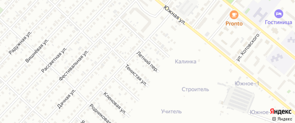 Летний переулок на карте Туймаз с номерами домов