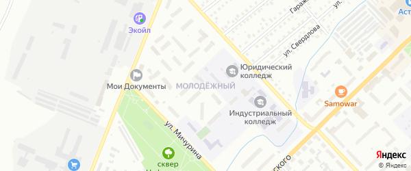 Молодежный микрорайон на карте Туймаз с номерами домов