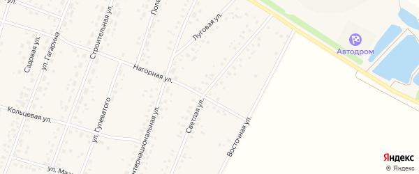 Светлая улица на карте села Ермекеево с номерами домов