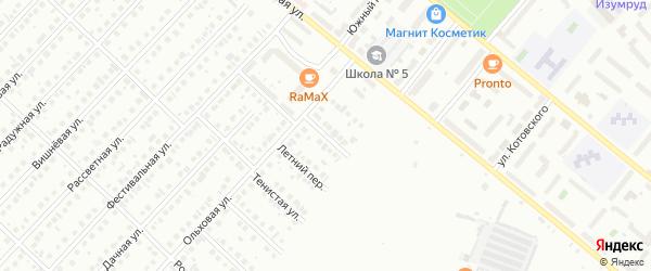 Ольховый переулок на карте Туймаз с номерами домов