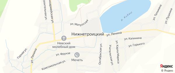 Карта села Нижнетроицкого в Башкортостане с улицами и номерами домов