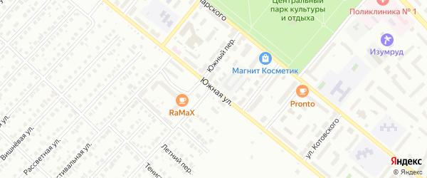 Южная улица на карте Туймаз с номерами домов