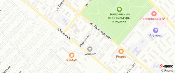 Южный переулок на карте Туймаз с номерами домов