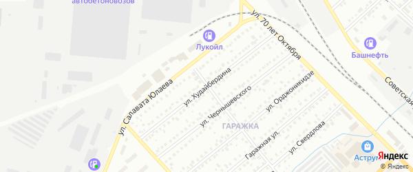 Улица Худайбердина на карте Туймаз с номерами домов