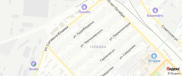 Улица Чернышевского на карте Туймаз с номерами домов