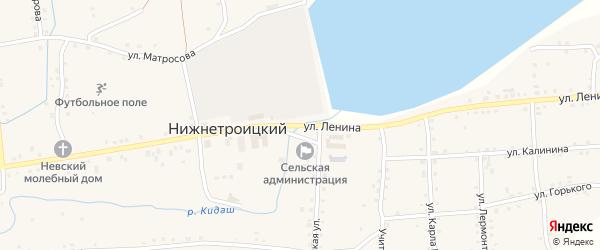 Улица Ленина на карте села Нижнетроицкого с номерами домов
