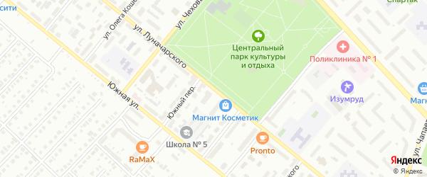 Улица Луначарского на карте Туймаз с номерами домов