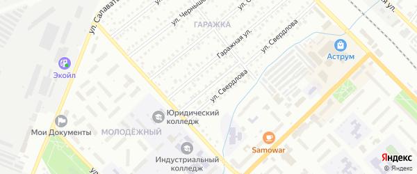 Гаражный переулок на карте Туймаз с номерами домов