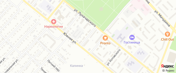 Переулок Луначарского на карте Туймаз с номерами домов