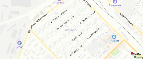 Улица Орджоникидзе на карте Туймаз с номерами домов