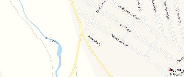 Речная улица на карте села Райманово с номерами домов