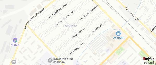 Гаражная улица на карте Туймаз с номерами домов