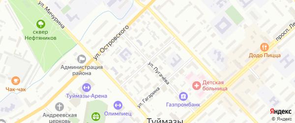 Улица М.Джалиля на карте Туймаз с номерами домов