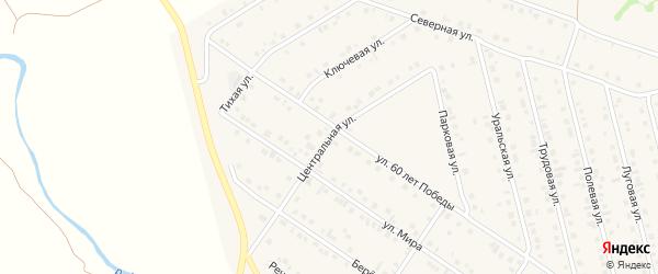Центральная улица на карте села Райманово с номерами домов