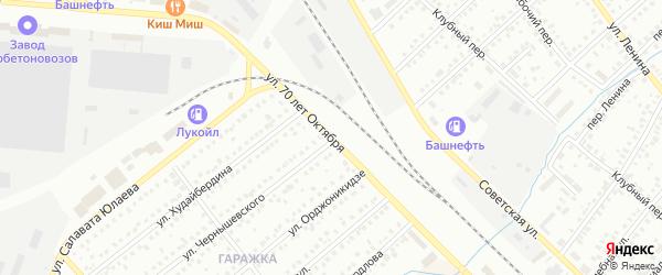 Улица 70 лет Октября на карте Туймаз с номерами домов