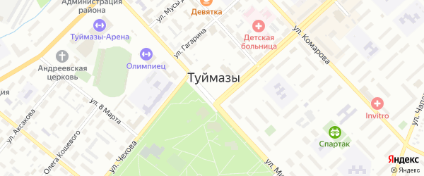 Площадь Октября на карте Туймаз с номерами домов