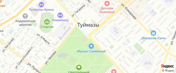 Улица Ахтяма Галеева на карте Туймаз с номерами домов