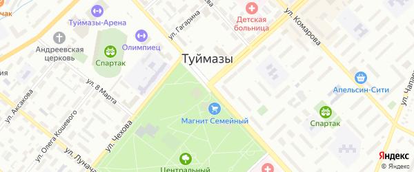 Девонская улица на карте Туймаз с номерами домов