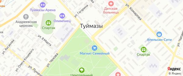 Полярная улица на карте Туймаз с номерами домов