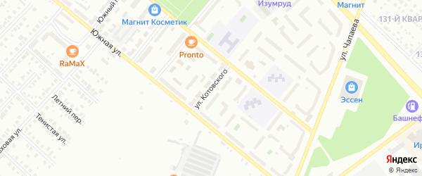 Улица Котовского на карте Туймаз с номерами домов