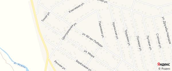 Улица 60 лет Победы на карте села Райманово с номерами домов