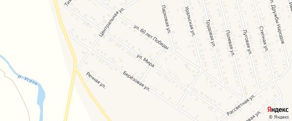 Улица Мира на карте села Райманово с номерами домов