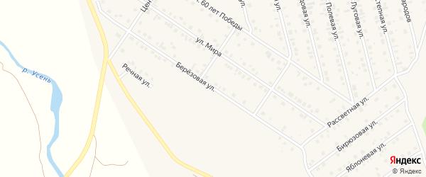 Березовая улица на карте села Райманово с номерами домов