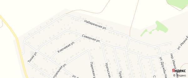 Северная улица на карте села Райманово с номерами домов
