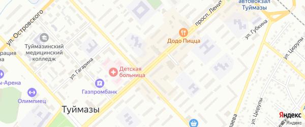 Проспект Ленина на карте Туймаз с номерами домов