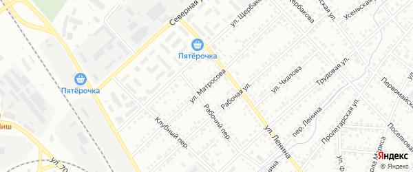 Улица Матросова на карте Туймаз с номерами домов