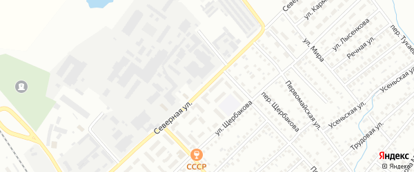 Северная улица на карте Туймаз с номерами домов