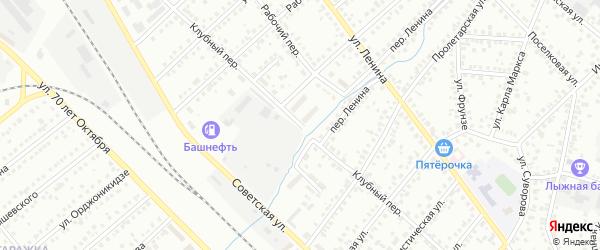 Клубный переулок на карте Туймаз с номерами домов
