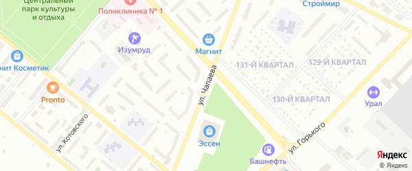 Улица Чапаева на карте Туймаз с номерами домов