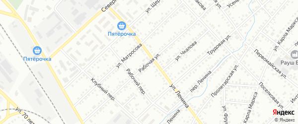 Рабочая улица на карте Туймаз с номерами домов