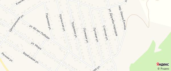 Полевая улица на карте села Райманово с номерами домов